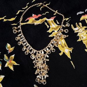 Juliana Waterfall Crystal Vintage Necklace